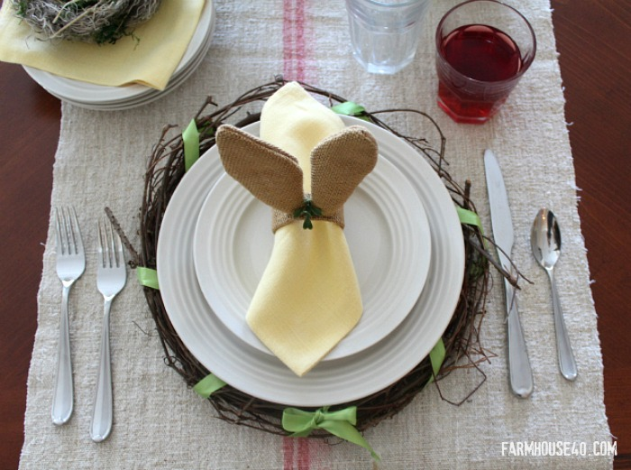 how to make an Easter place mat