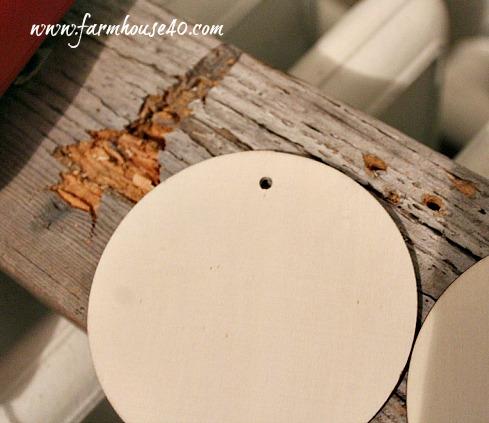 DIY wood number tags