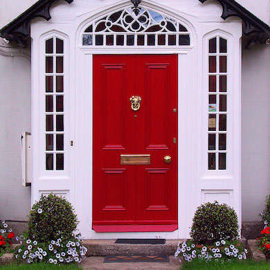 Red Home Door Irland