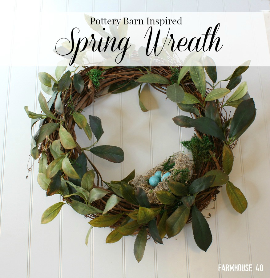 spring bird nest wreath
