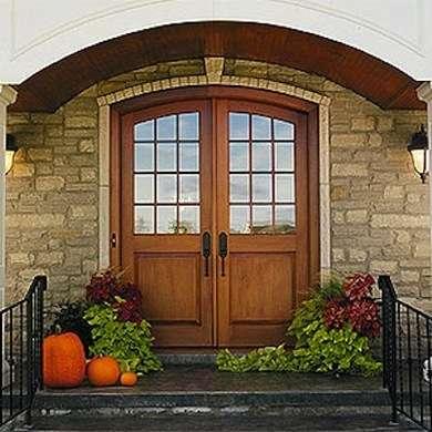 Wood arched door