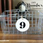 Wood Number Tags