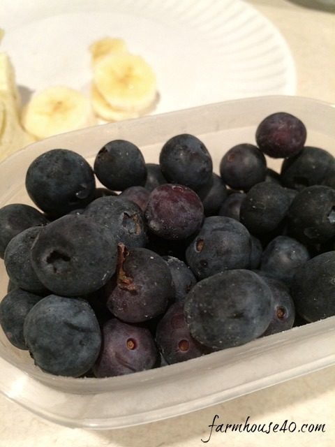 Protein Smoothie with blueberries