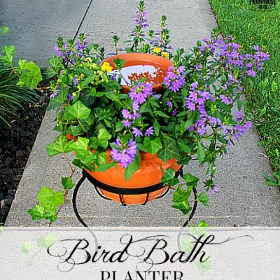 How To Make A Bird Bath Planter