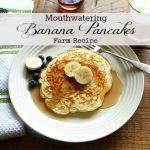 Mouthwatering Banana Pancakes