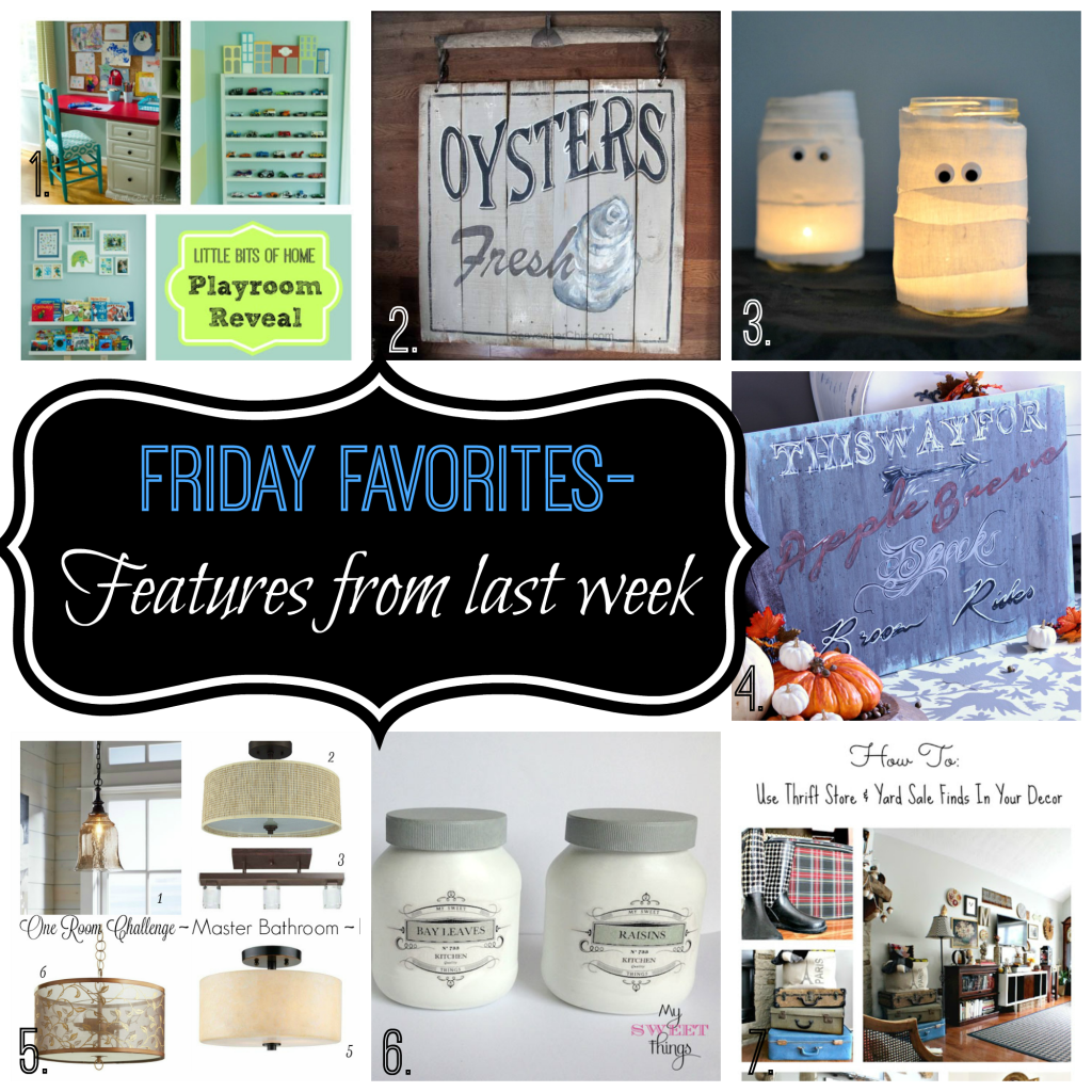 link party favorites from last weeks Friday Favorites link party