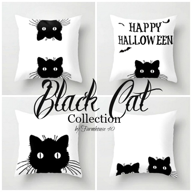 Black Cat Pillow Collection by Farmhouse 40
