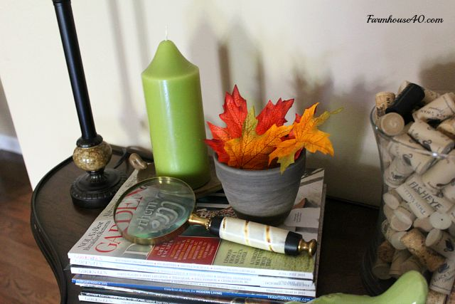 console table fall leaves