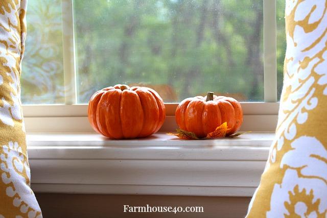 mini pumpkins decor for fall