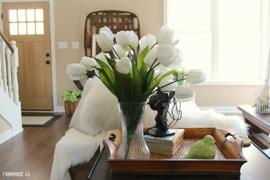 spring tulips for home decor