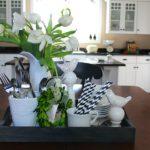 Table Vignette in Black & White