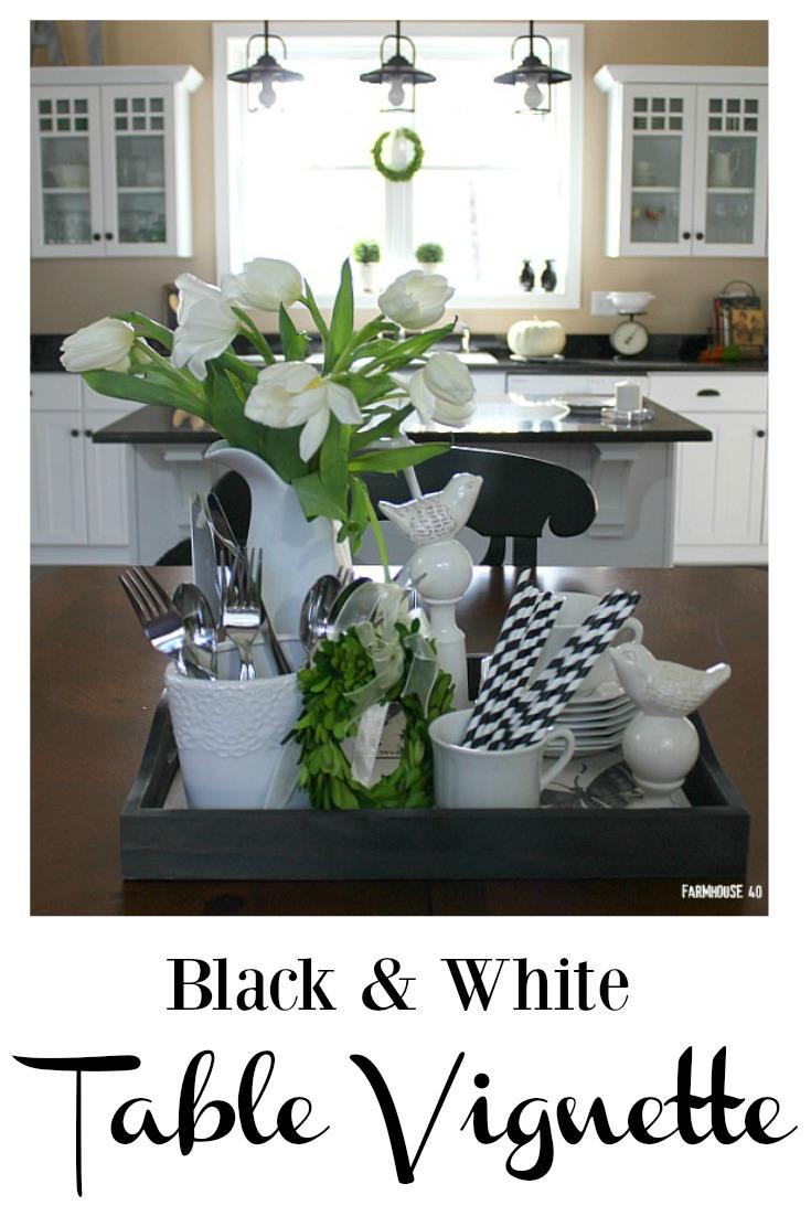 black and white vignette