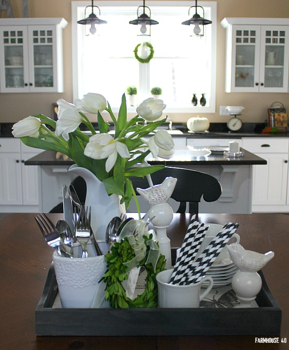 Table Vignette In Black And White Classic Clean Look