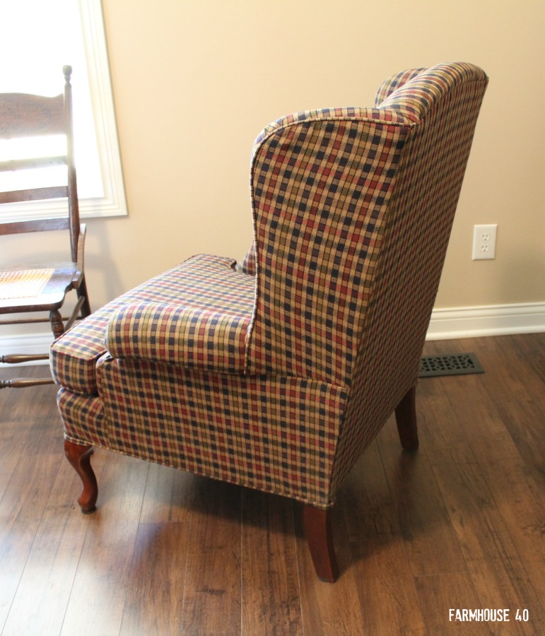 wing chair makeover