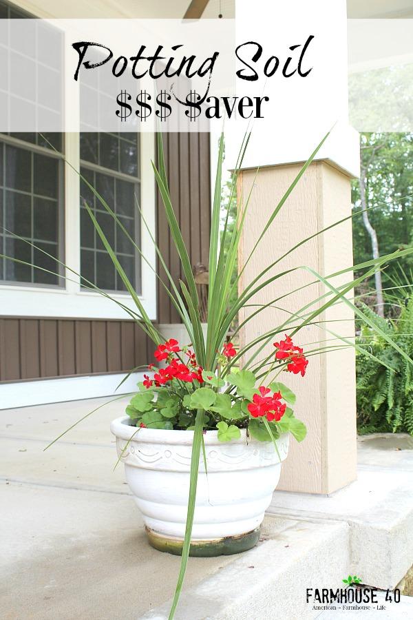 potting soil saver