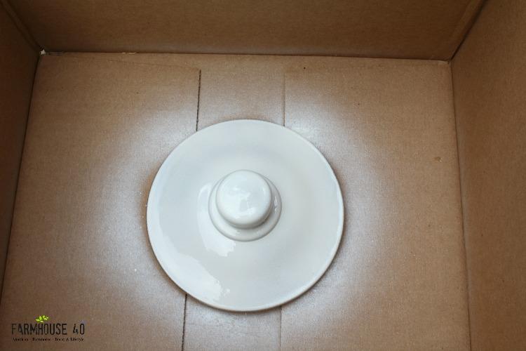 DIY White Lid Jar