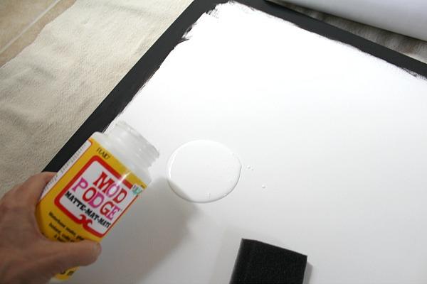 add mod podge to canvas 5018