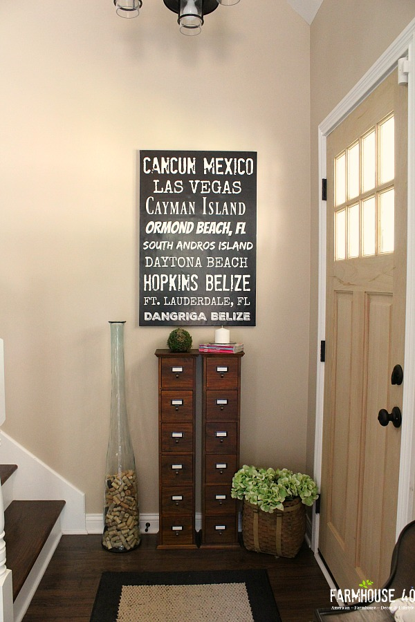 DIY Wall Art Canvas Poster for your home details at Farmhouse40.com