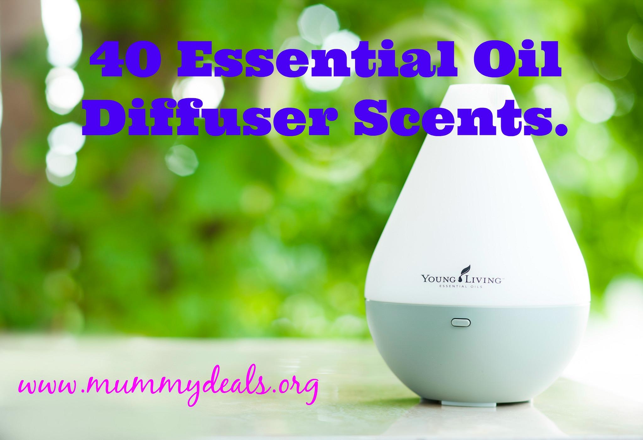 40 great essential oil diffuser scents