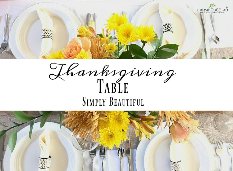 Thanksgiving-simple-tablescape-with-yellow-bouquet