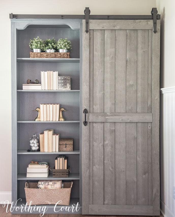 farmhouse-bookcase-makeover