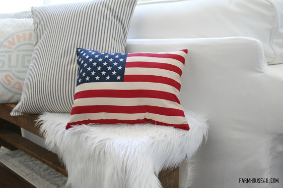 flag-pillow-tea-stained