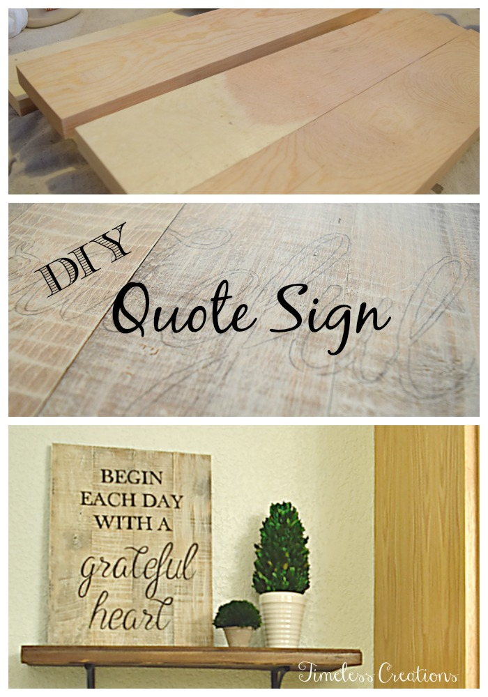 DIY Quote Sign Collage
