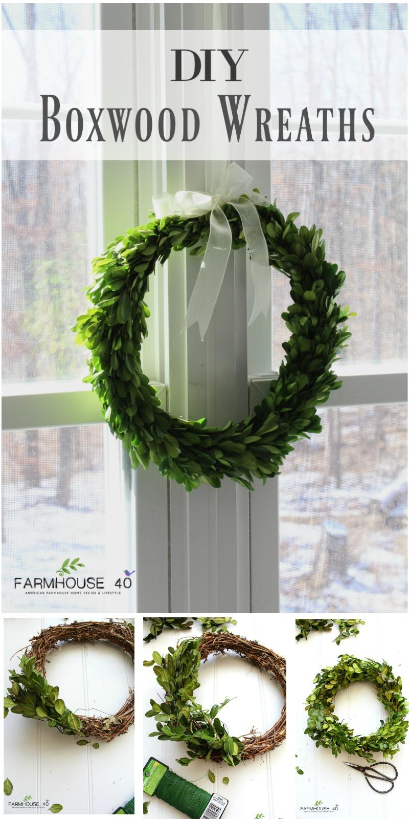 diy preserved boxwood wreaths   farmhouse 40
