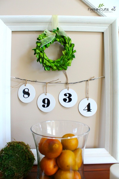 frame hanging numbers
