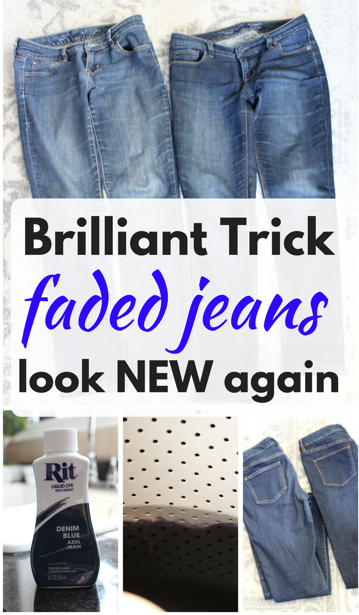 Brilliant Trick faded jeans look new again