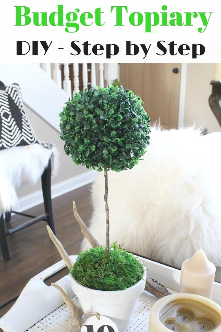 DIY Budget Topiary Pots