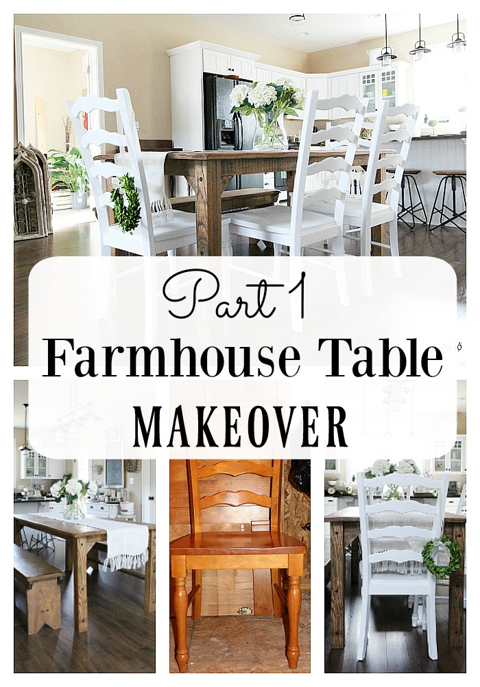Today I wanted to show you my progress so far, of the Farmhouse Table MAKEOVER.