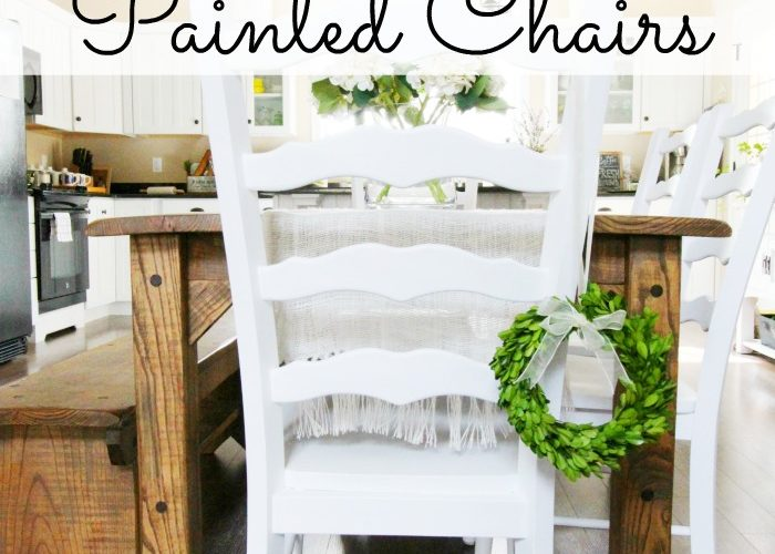 DIY Farmhouse Table Chairs Makeover