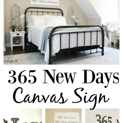 365 New Days Canvas Sign