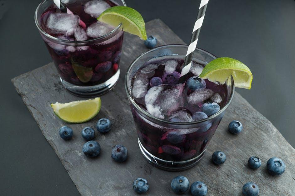 Blueberry ice drinks