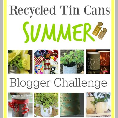 Recycled Tin Cans Flower Pots