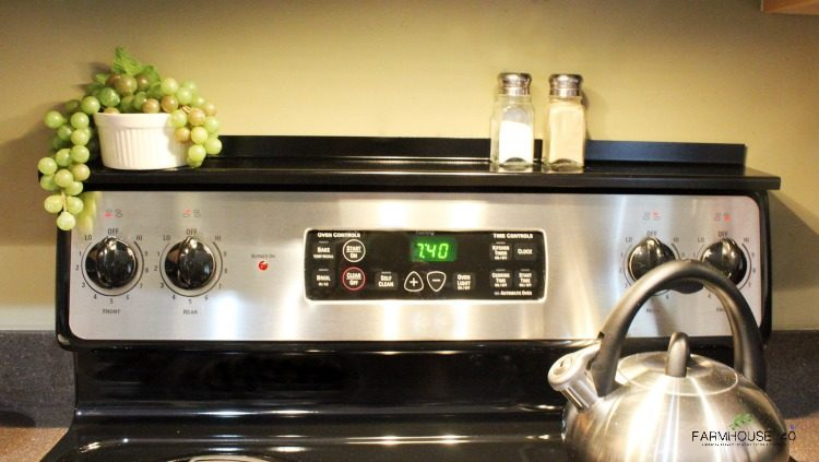 Stove Top Shelf Adds Storage And Style (Giveaway)