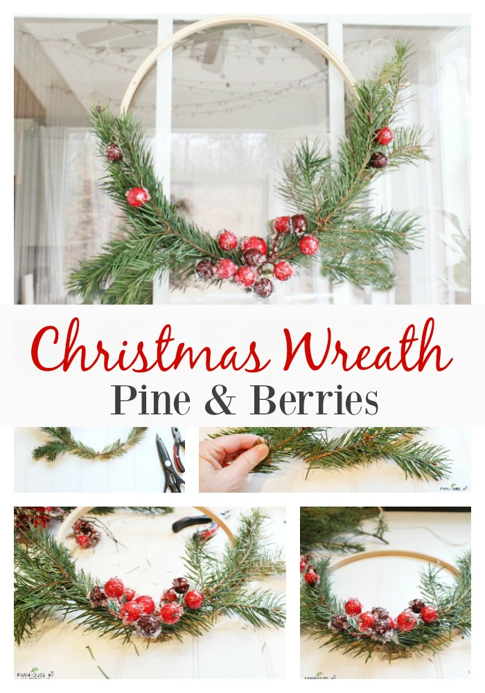 Christmas wreath with pine and berries farmhouse 40 - Admirable christmas wreath decorating ideas to welcome the december ...
