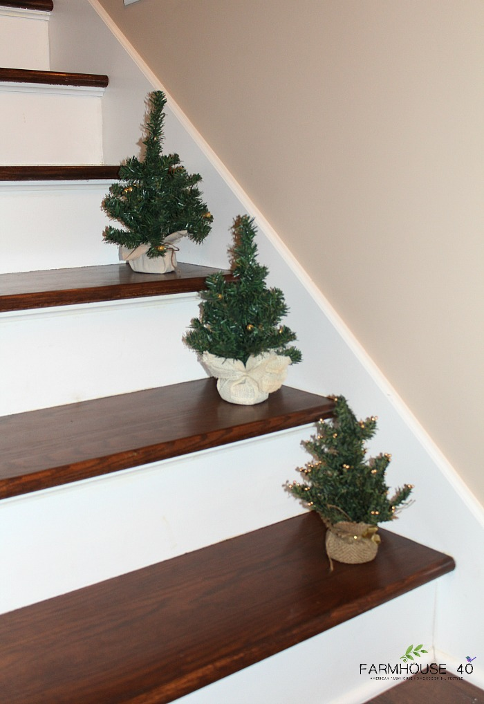 Mini Christmas Trees - Dollar Store Craft - FARMHOUSE 40
