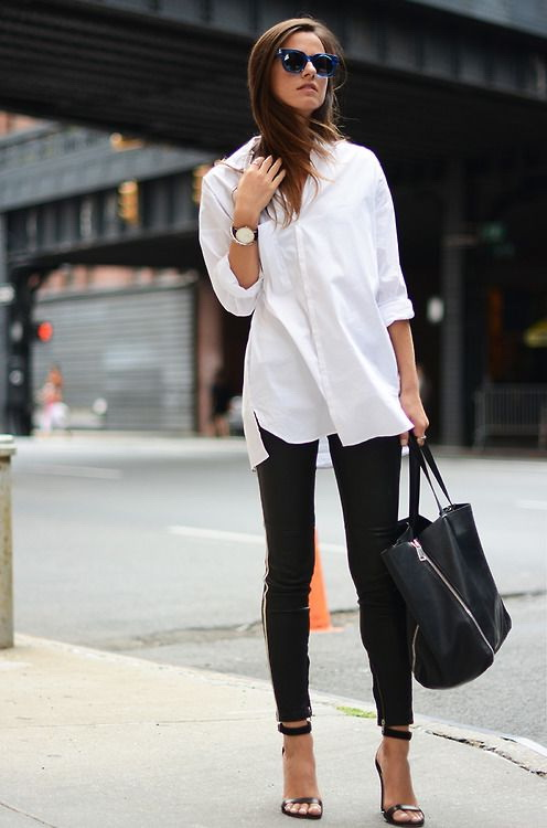 6ddac0a8dea 6 Chic Ways To Wear A White Button Shirt