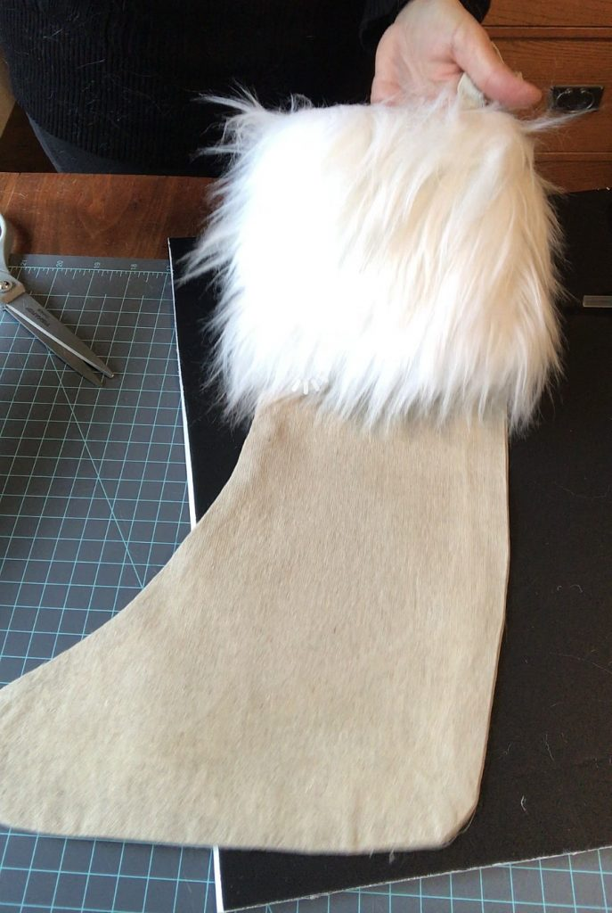 No-sew-fur-Christmas Stocking-No-Sew