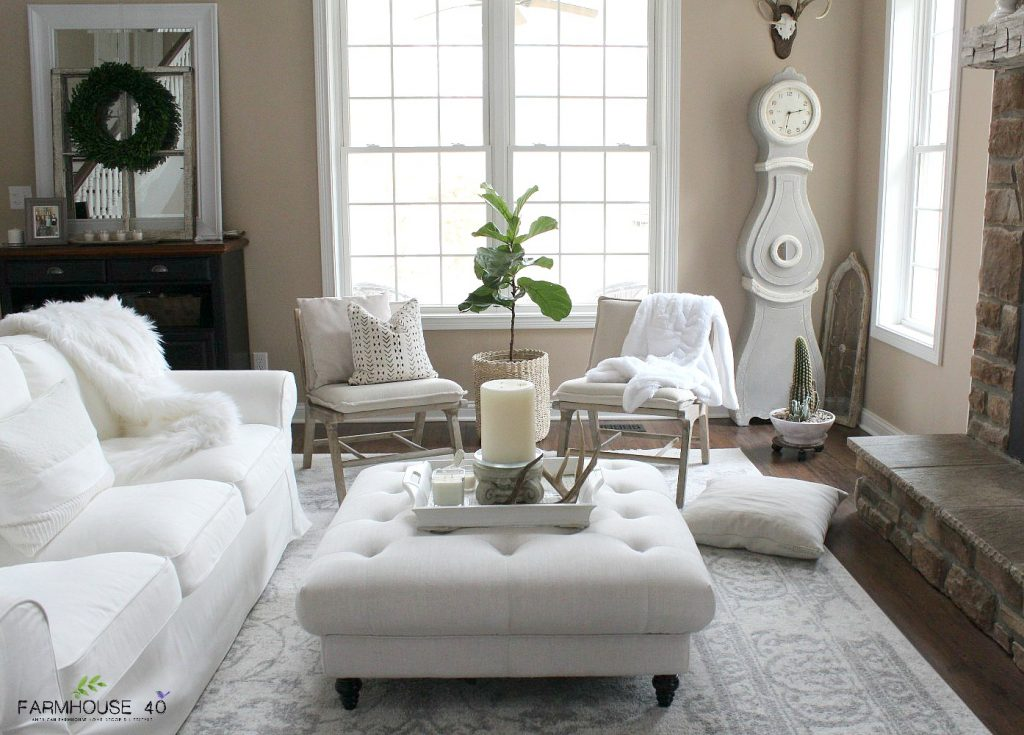 Minimalist Living Room Winter Decor Ideas