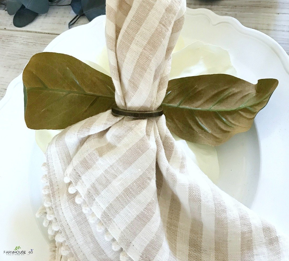 Diy Napkin Rings For Your Spring Dining Table Farmhouse 40